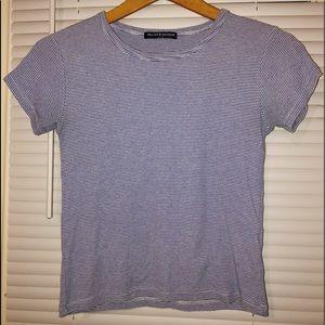Blue Striped Brandy Short-Sleeve Shirt